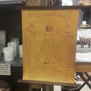 Leonardo Da Vinci manuskript/ plakat Plakat Str. 51 x 35.5 cm  Aldrig brugt - kun lige hængt op for at tage billeder.  Køber betaler porto.