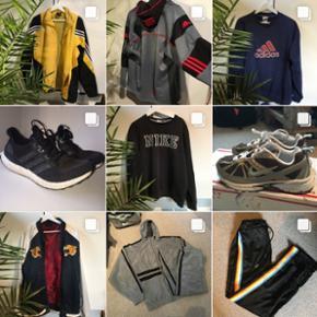 Jeg sælger alt muligt via min Instagram Secondhand_sorgenfri Kappa, ultra boost, supreme, Stone island, Nike Adidas, vintage, Retro, tracksuits, jakker, sko/Sneakers i alle størrelser