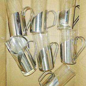 Jeg sælger mine 7 Irish kaffeglas da de ikke bliver brugt mere, der medfølger 4 glasbakker.  Porto 44 kr
