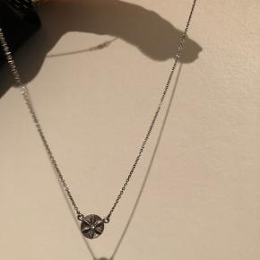 Halskæde i oxideret sølv Almindelig længde