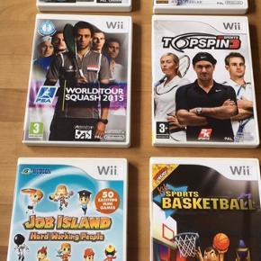 6 originale spil til Nintendo wii De fremstår i meget flot stand Samlet pris 240 kr eller 40 kr pr stk