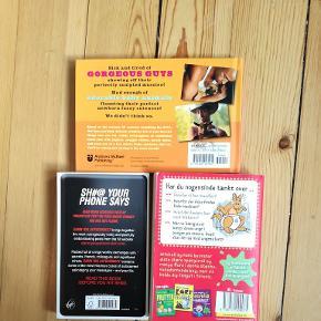 Sjove bøger, 2 for 50kr   Kig også gerne i andre annoncer, mængderabat gives. Sender, køber betaler porto 😊 Afhentning i KBH NV.