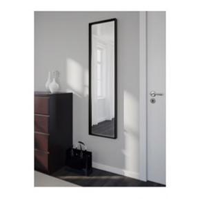 IKEA Nissedal spejl i sort,  Bredde: 40cm Højde: 150cm