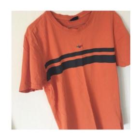 Vintage H2O t-shirt orange og hvid