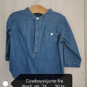 Lækker skjorte i cowboystof.