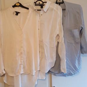 Skjorter, brugt få gange, men trænger til en strygning. Fra venstre: str. 36, 38, M.