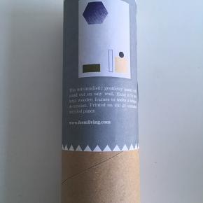 Ferm Living Geometry plakat.  Ubrugt og i original emballage.  70x50 cm.  100 kr.