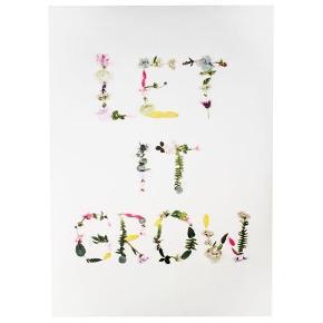Flot plakat med blomstermotiv sælges uden ramme. 70x100cm