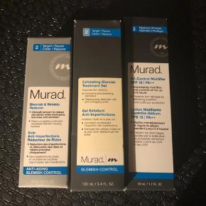 Murad Oil-control mattifier dagcreme med spf 15. Aldrig brugt.- Bytter ikke - mp. 250 kr inkl. Via mobilpay. De andre produkter i samme serie på billede 2 haves også til salg, serum og gel til blemishes.