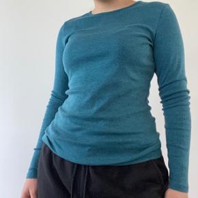 Turkis langærmet bluse. Skriv privat for flere billeder og detaljer. Prisen kan forhandles. 3 for 2 på hele min profil.