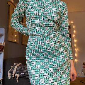 Mega smuk vintage kjole fra 70'erne 💚🤍💚