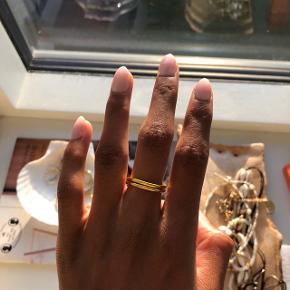 """Hej💛 Min veninde Anastasia Steentoft og jeg, laver hjemmelavede smykker, her på billedet ses """"Nora ringen"""" Da ringen er hjemmelavet, er hver enkel ring ikke 100% ens, og de vil derfor hver især have sit eget lille præg.  Str: Hver ring har justerbar lukning, derfor ser lukningen ud som den gør:)  Kan laves både i Sølv og guld. Prisen er ekskl. fragt, men køb af flere smykker gives der mængde rabat;)  Hvis du har flere spørgsmål er du velkommen til at skrive☺️🌻"""