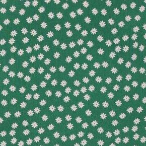 Grøn og hvid nederdel med blomster, kun prøvet på