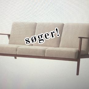Søger denne 3-Pers.  Ekenäset sofa fra IKEA i beige!🤞🏼🤞🏼  ((Eller evt noget der minder om den))