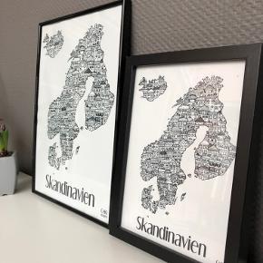 Skandinavien i A3 størrelse i ramme fra CeKi Designs. (Den til Venstre)  CeKi designs er et tidligere plakat firma, designet og printet af en veninde og jeg, men nu sælger vi de sidste billeder inden vi drager til nye projekter ☺️ det er altså dansk design, lavet med kærlighed af to studerende ❤️  Dette er en del af et restparti, der er derfor mulighed for at købe flere og få en billigere pris.   Billederne kan afhentes i Slagelse eller København.