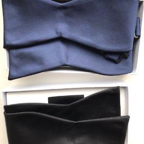 Selvbinder butterfly eller butterflies  I sort med hvidt tørklæde  I blå med blåt tørklæde.   50,- stk.