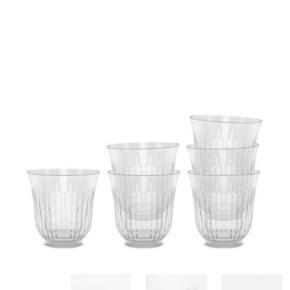 Sælger et sæt drikkeglas med 6 stk glas fra Lyngby Aldrig brugt og pakken er uåbnet Sælger da jeg har for mange af dem og ikke har haft brugt for at åbne en pakke mere   26 cl. - klar glas  Sælges billigt  Købspris 150 kr