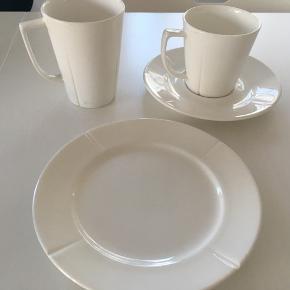 Rosendahl kop underkop krus og frokost tallerken.  Standen er god men brugt, kop og krus har dog lidt mere brugsspor.  Det kan evt. ses og hentes i Odense.   BYD gerne.  Bytter ikke.  Fragt betales af køber, og jeg sender gerne.