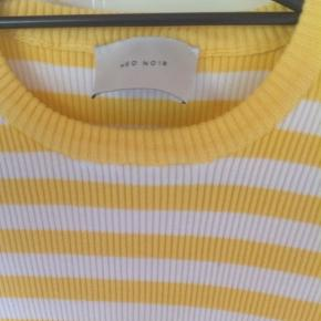 Yellow and white stripped light sweater.  It's in great shape and nice and light for spring summer.