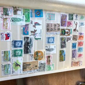 Er der en lille frimærkesamler i din mave? Her er fem stk' s album med forskellige lande. Kom med et bud
