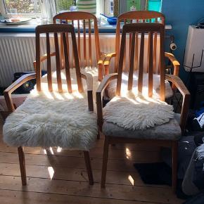 Spisebordsstole sælges samlet eller stykvis