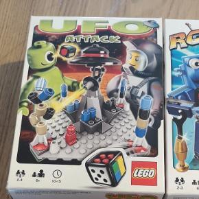 Lego brætspil.  Prisen er for alle 3 spil samlet.  Spillene er brugt ca 2 gange pr stk. Kassen til Det ene spil er dog revnet en smule..  Fra røg og dyre frit hjem.