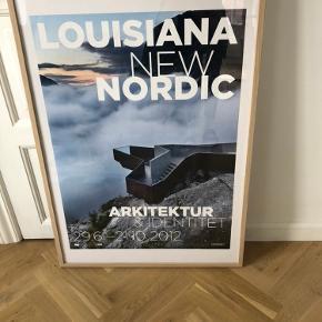 Super fin plakat med ramme sælges billigt.