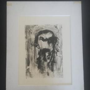 Kultegning af Leif Lage (Nummereret 1/15). Måler 46 X 58 cm.