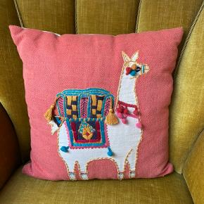 Cute llama pillowcase + cushion for sale 🦙🛋 40x40cm Used, in okay condition, only a little bobbling All tassels are still attached No loose strings Multi-coloured at front, white at back.