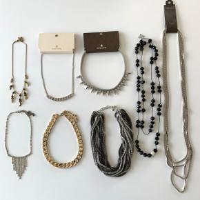 Diverse halskæder sælges. Byd 🤗  Fra Pieces - H&M - Pilgrim m.fl  Flere af dem er aldrig brugte.