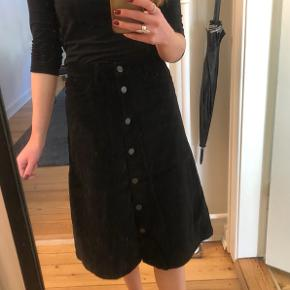 Aldrig brugt velour nederdel. Sort farve - fejler ikke noget.   Mp 100kr.
