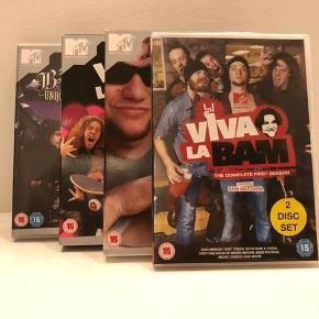 Komplet samling af Viva La Bam (Sæson 1-5) + Bam's unholy union.  Med danske undertekster.   Kan afhentes i Kastrup eller sende på købers regning.
