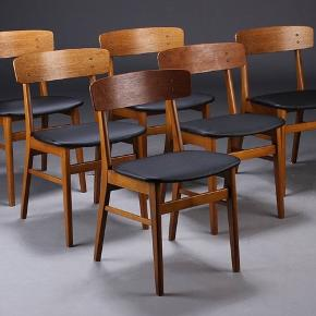 6 farstrup teak chairs. Very good condition.  The chairs in the picture are mine. Bought at Lauritz but have not been used. Seat covers have been changed and are like new.  Sold in pairs or all together.