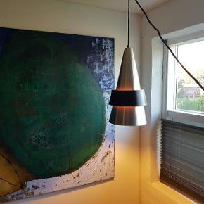 Fed retro lampe fra Jo Hammerborg. Har lidt Patina grundet alder men stadig flot. Pris 1000 kr