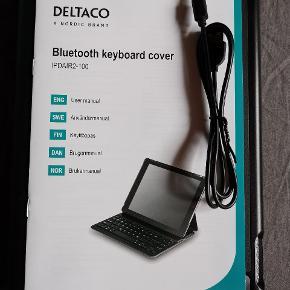 Cover med tastatur Passer til iPad air 2  Aldrig brugt