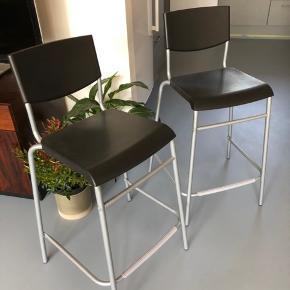 Super fine barstole - som nye. 2stk 150kr