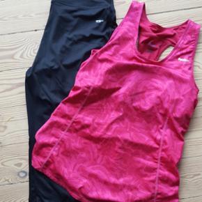 Sportstøj Reebok top str L aldrig brugt bukserne str 38