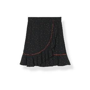Pleated and high waisted skirt with frills finished with a front slit siz.40 100% Viscose