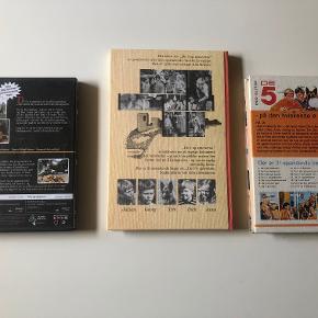 De 5-bøgerne + DVD af Enid Blyton:  Bøger:  De 5 og spionerne - illustreret filmudgave De 5 på den hviskende ø  DVD: De 5 og spionerne + De 5 i fedtefadet  Prisidé dkk 75,00 - kom gerne med et seriøst bud :-)