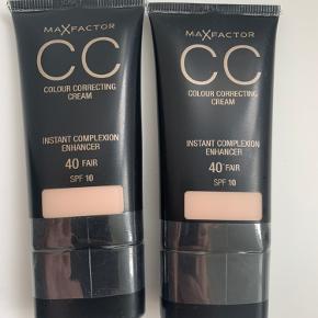 Sælger to helt nye og uåbnede CC creams fra Max Factor i farven fair. Prisen er for begge samlet.