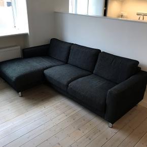 Mørkegrå sofa med chaiselong sælges.B: 230 D:90 (145 chaiselong) Sælges grundet flytning.