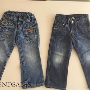 Vores absolut yndling jeans, og derfor er de også slidte på knæ som der måske ses på billederne. Her er et godt tilbud til den som er fiks på hænderne og kan lappe huller på en fed måde, eller brug dem som de er med cool slidte detaljer.  De lyse er vingino og de mørke er fra h&m.  Samlet mindstepris 80 +  Sender med DAO via Trendsales Handler også gerne via mobilepay Kan også afhentes / mødes i Kbh  2 fede bukser / jeans - str 98 Farve: denim