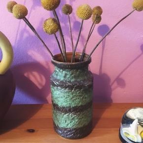 Grøn vintage-vase