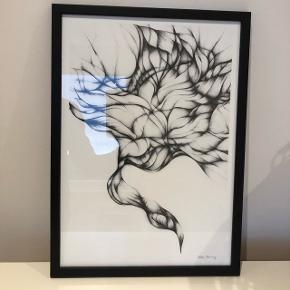"""Sofie Børsting """"Pathways"""" billede str. A3 (29,7 x 42 cm.)Sælges inkl. sort træramme."""