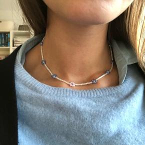 Perle halskæde med miyuki og seads beads perler i lyseblå 💮 Prisen er inkl Porto