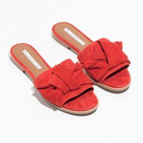 Smukke orange sandaler str. 37, brugt 2 gange🧡Nypris: 645kr