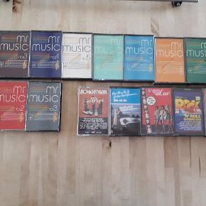 17 blandede kassette bånd, sælges samlet. Mr. Music, Showaddywaddy, Sha Na Na, Luv, Rock'n'roll Superstars, For Fuld Musik 5.