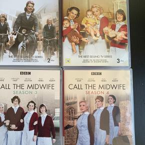 Tv-serien Call the midwife sæson 1 -4 kun set 1 gang Prisen er fast.  Np 129 kr  Per styk