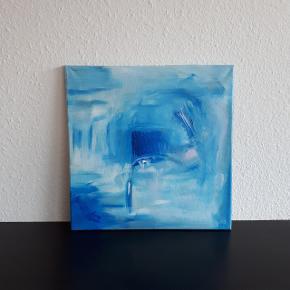 Originalt akrylmaleri 40 × 40 cm.   Hentes i Roskilde.