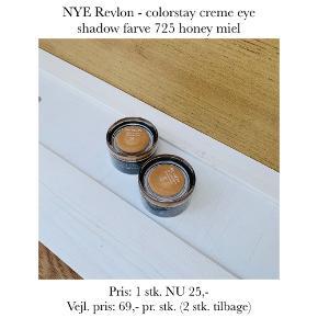 NYE Revlon - colorstay creme eye shadow farve 725 honey miel  Pris: 1 stk. NU 25,-  Vejl. pris: 69,- pr. stk. (2 stk. tilbage)   Se også over 200 andre nye produkter, som jeg har til salg herinde :-)
